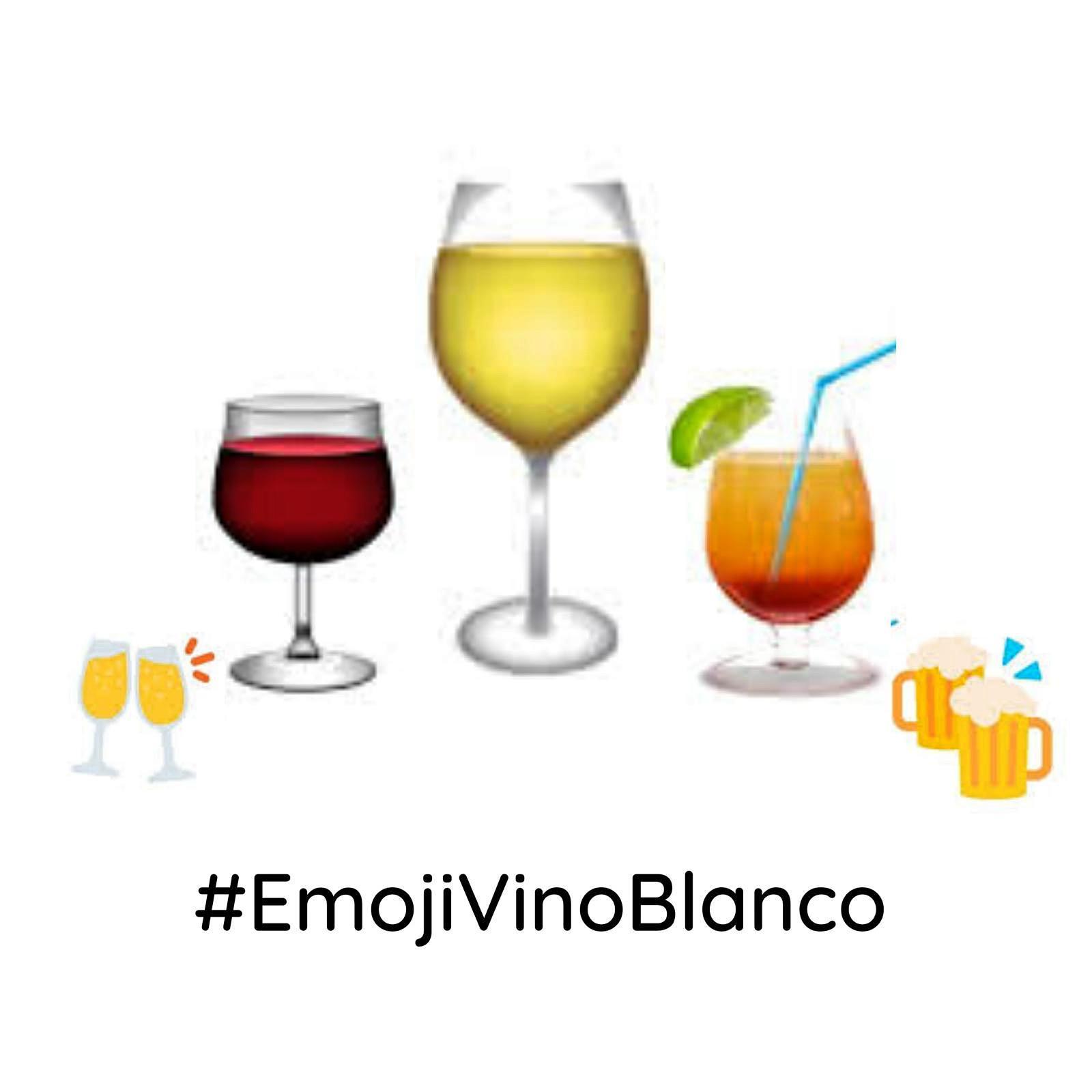 Emoji Vino Blanco